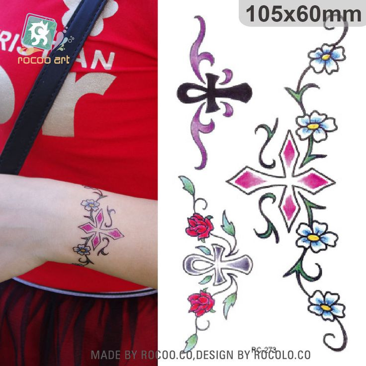 2pcs/lots New waterproof tattoo stickers custom small fresh cross temptation to the amount of large amount of RC2273