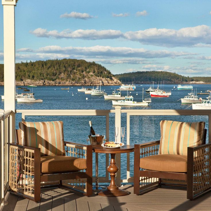 14 Hotels With The Best Views In World Harborside Hotel Bar Harbor
