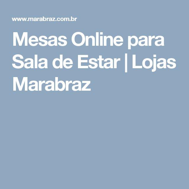 Mesas Online para Sala de Estar   Lojas Marabraz