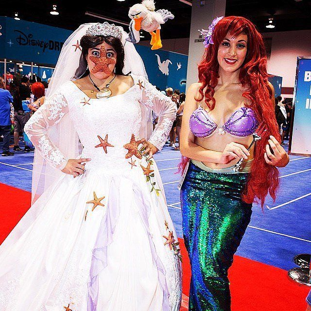 Ursula and Ariel. The perfect costume for the Halloween duo.
