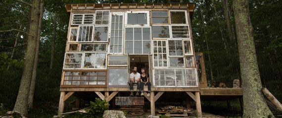 Cozy Mountain Cabin Built From Repurposed Windows Costs Just $500 To Make (PHOTOS, VIDEO)