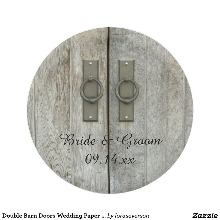 Double Barn Doors Country Wedding Paper Plate  sc 1 st  Pinterest & 113 best Wedding Paper Plates images on Pinterest | Wedding paper ...