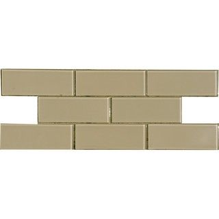Fawn 3x8 inch shiny glass tiles case of 67 wells for Lamosa ceramic tile