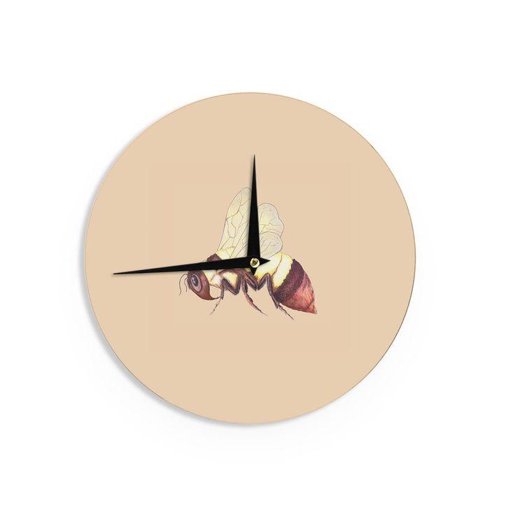 "Catherine Holcombe ""Bee Happy Beige"" Wall Clock"