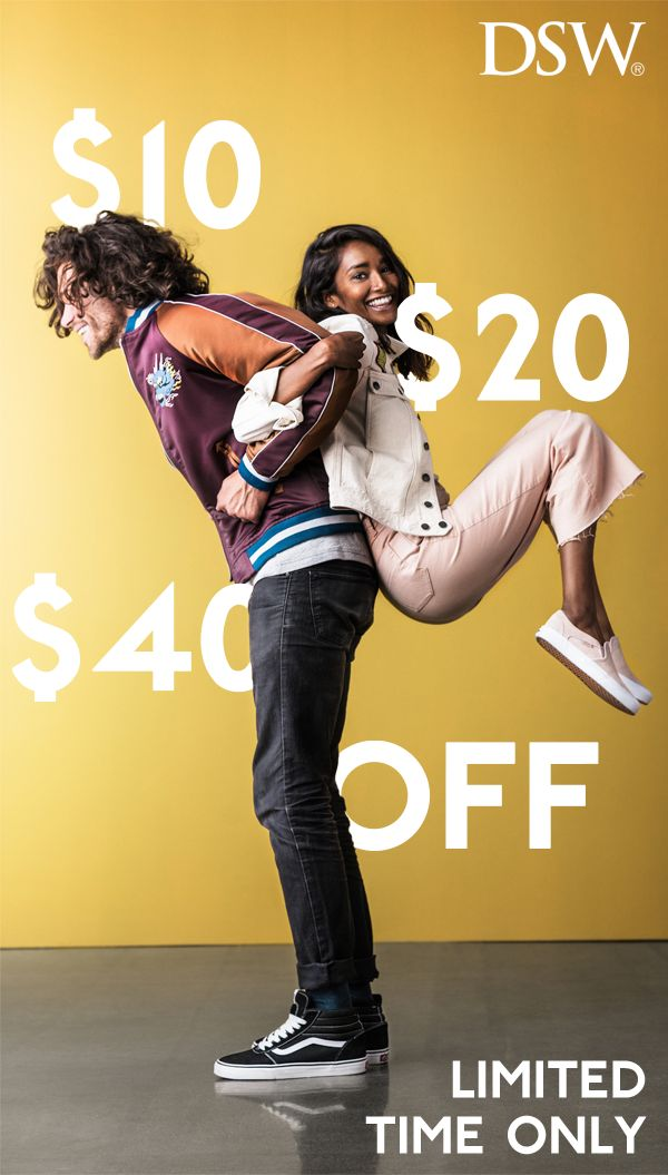 """Get $10 off $49, $20 off $99, or $60 off $199. So if you were looking for a sign…the answer is, """"yes, you should buy those boots."""" Learn more and shop the selection at DSW.com today!"""