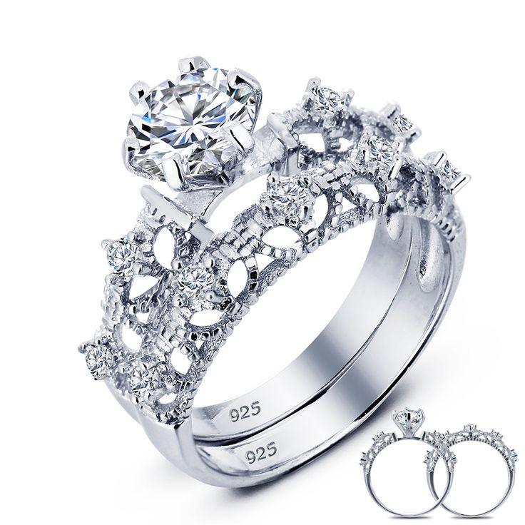 Vintage-style-925-pc-vittoriano-art-deco-1-25-ct-wedding-sterling-creato-diamante-solido-anello.jpg (1000×1000)
