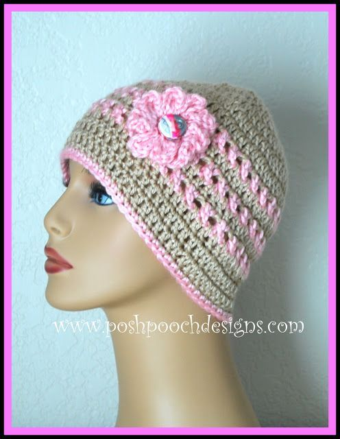 Ann's Pink Ribbon Chemo Beanie    This Crochet Pattern is dedicated to   My Sweet Momma who   lost her battle with Breast Cancer July 1...