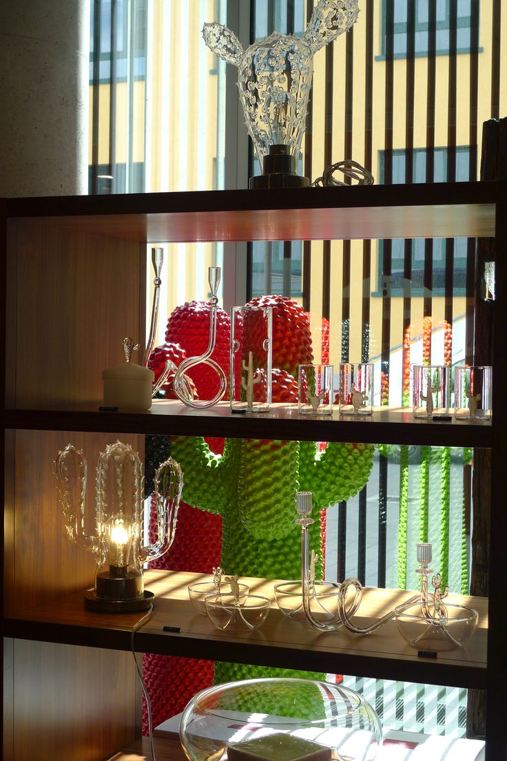 Mudec. Museo delle Culture , Milano. Casarialto Cactus Lamps, glass and Jugs. Casarialto Candleholders C19 and C20. www.casarialto.it