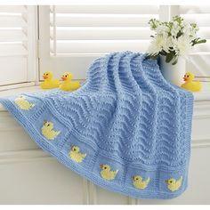 Mary Maxim/Ducks in a Row Blanket