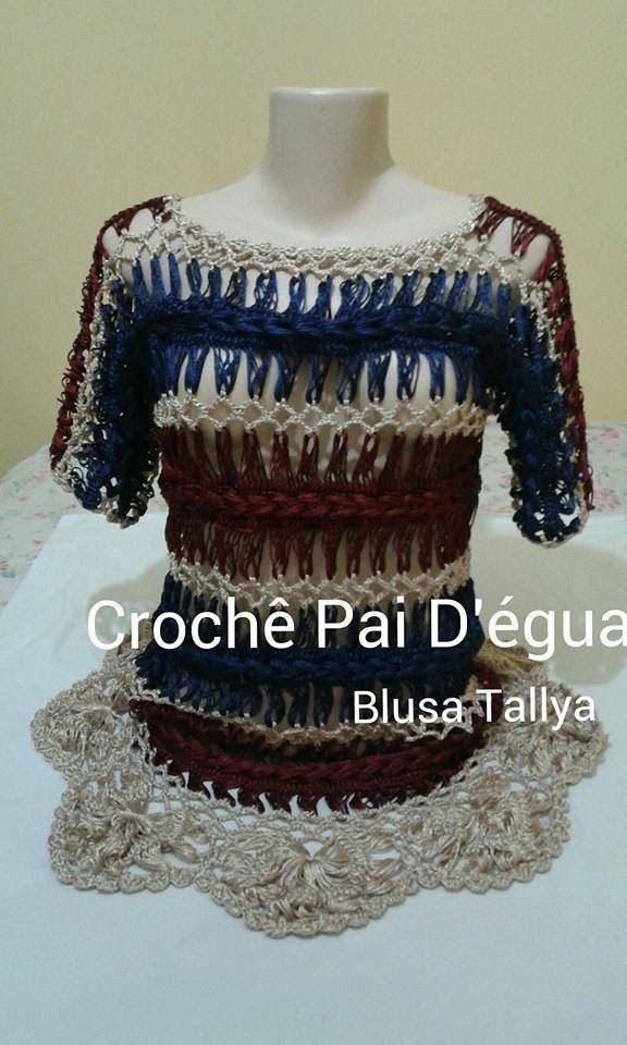 Blusa Tallya em Crochê de grampo (Crochê Pai D'égua)