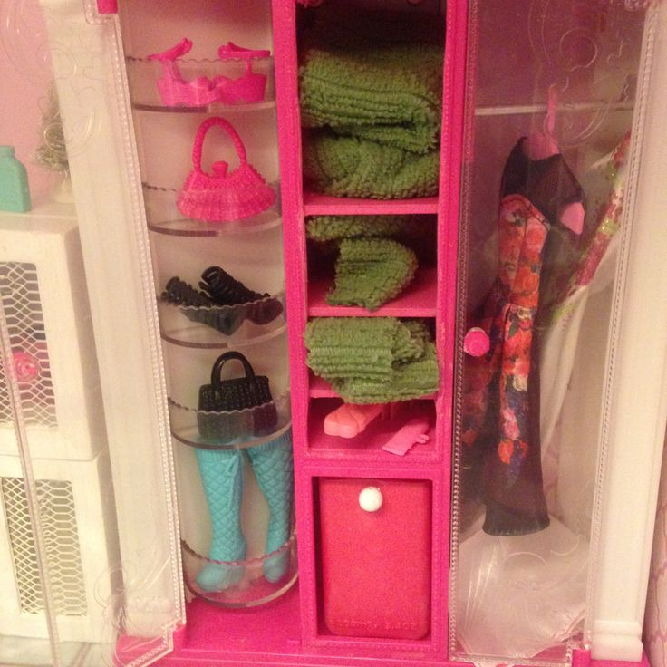 Refitted Barbie vending machine to awesome closet!