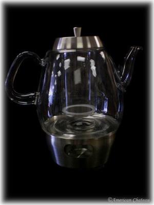 Large Borosilicate Glass Teapot Tea Pot Infuser Strainer Stainless Steel Warmer | eBay