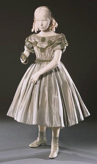 Girl's dress, ca. 1860, American.
