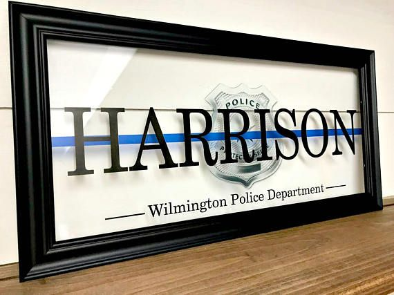 Police Officer Gifts Police Sign Thin Blue Line Police