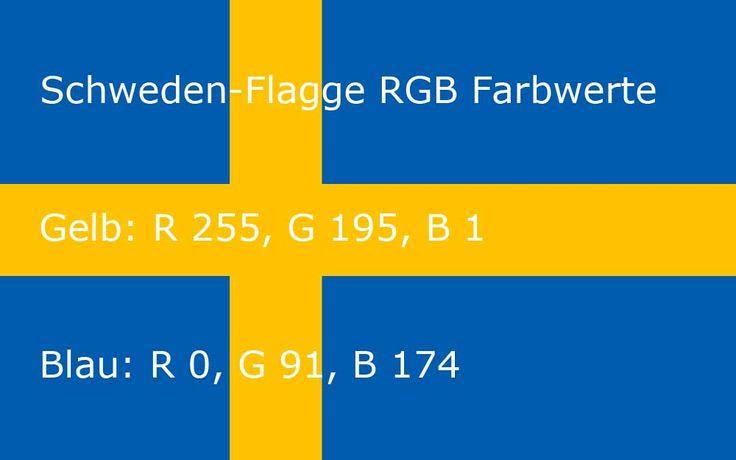 Schweden-Flagge RGB Farbwerte