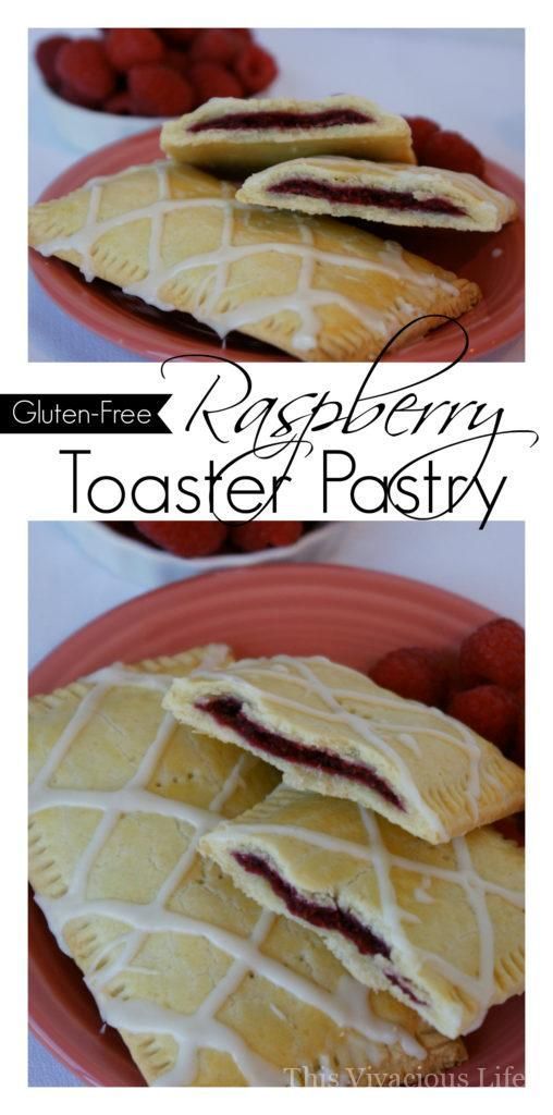 This gluten-free raspberry toaster pastry is flaky, fruity and so delicious that you can serve it up to anyone and they will enjoy it. Breakfast will never be the same again! | gluten free breakfast recipes | gluten free toaster strudels | gluten free swe