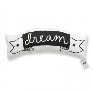Love and dream cushion #ohswag #kidscushion #nurserydecor #monochromedecor