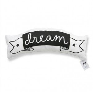 Love and dream cushion #ohswag #kidscushion #nurserydecor #monochromedecor