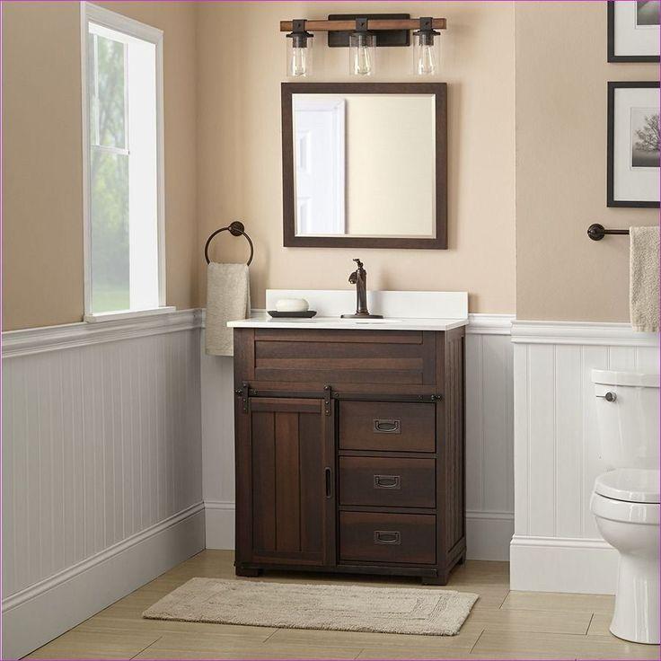 48 best light colored farmhouse bathroom vanities ideas
