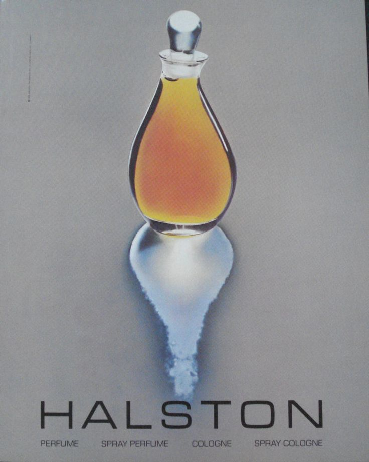 vintage perfume advertisements | Vintage 1982 Halston Perfume cologne Magazine Ad Print - reflection ...