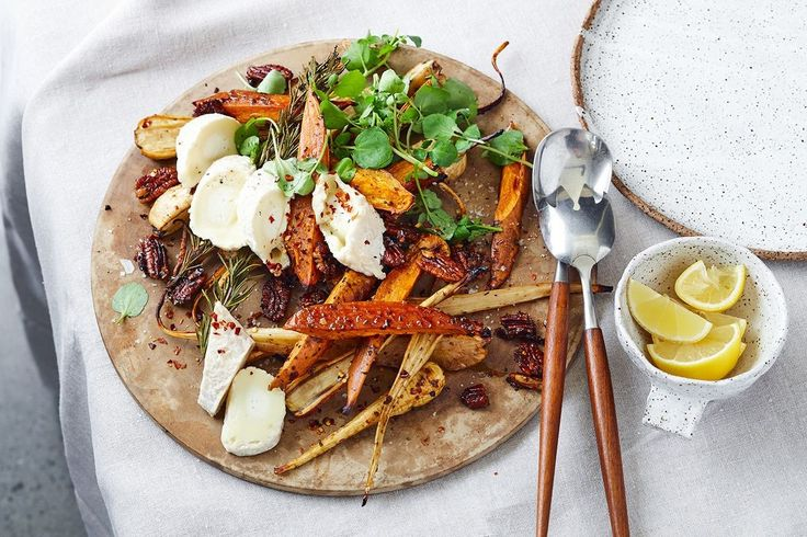 Warm roast vegetable salad