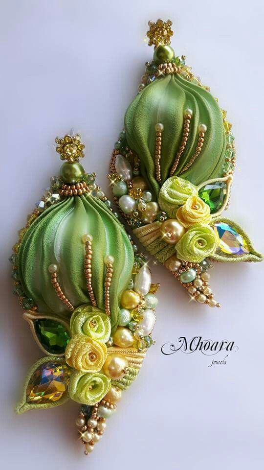 ' Scent of Bangkok ' shibori silk, soutache, bead embroidery Mhoara Jewels