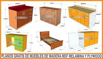 Bricolaje-Diy  Planos gratis Como hacer muebles de melamina  madera y Mdf