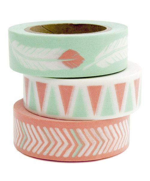 Look at this Feather Washi Tape - Set of Three on #zulily today!
