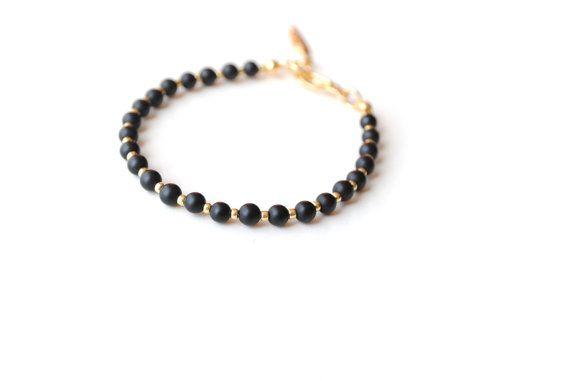 Friendship bracelet agathe bracelet black bracelet by elfinadesign