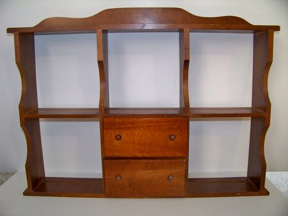 Vintage Wall Curio Cabinet Shelve Unit with Drawers Shadow Box - Best 25+ Wall Curio Cabinet Ideas On Pinterest Old Windows, Old