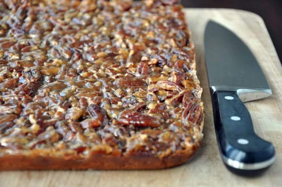 Pecan Pie Bars, SO GOOD! My brother would love these!