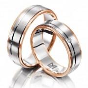 Ga je #trouwen? Ben je op zoek naar #trouwringen voor je #bruiloft? Wat vind je dan van deze stoere Meister trouwringen. De trouwringen zijn gemaakt van wit en rood goud een heel warme combinatie. De dames ring is bezet met een briljant. www.trouwringspecialisten.nl Meister trouwringen 112.8735.01