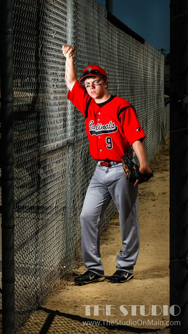 ©The Studio • La Crosse, WI www.TheStudioOnMain.com  Boy • Senior • Pictures • Portraits  Baseball • Outside