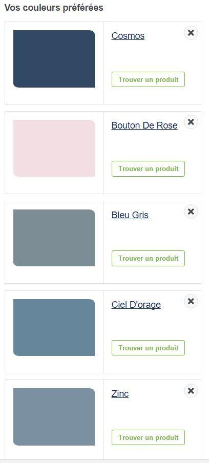 peinture dulux valentin nuancier de gris bleu et bouton de rose ...