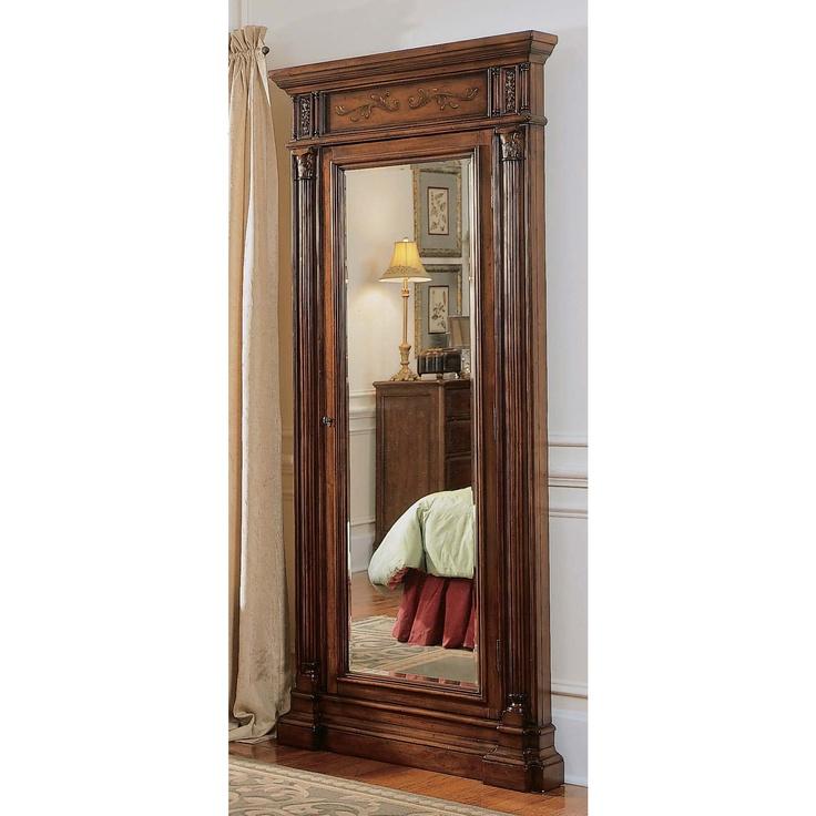 Awesome Hooker Furniture Seven Seas Floor Mirror Jewelry Armoire Nice Look