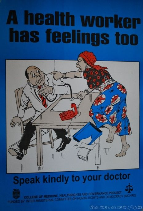 Health Worker - Hospital Sign in Africa | The Travel Tart Blog