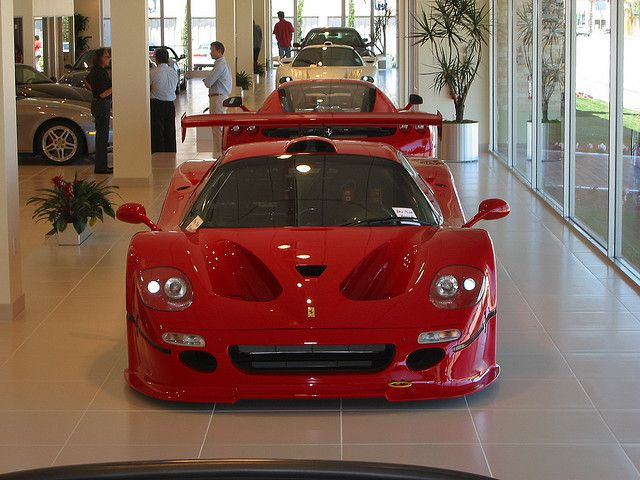 Stopped by the local Ferrari-Maserati dealership and they had an F50 GT (1 of 3 made), an Enzo, and an MC12. What a lineup! And the F50 GT and MC12 are owned by the same guy!    You can check out my personal (though less expensive) cars at the Crowded  . Awesome !!!