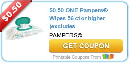 Tri Cities On A Dime: SAVE $0.50 ON PAMPERS WIPES - 56 CT OR HIGHER