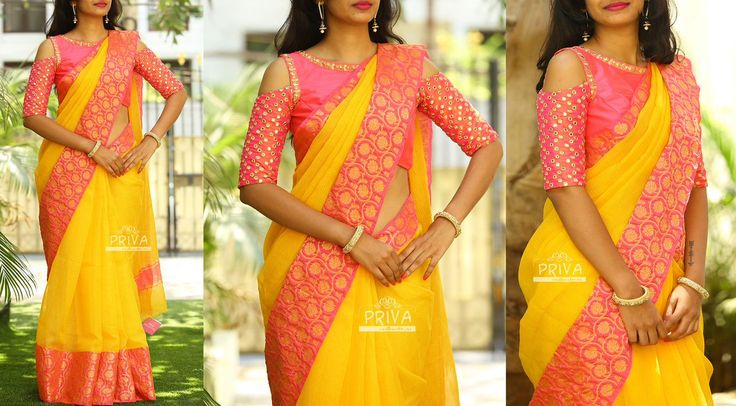PV 3262 : Yellow MellowPrice : 5000Look lovely in this simple yet beautiful combination of yellow kota sari with a touch of pink and zari work on the border.Unstitched blouse piece - Pink raw silk for body and pink faux mirror fabric for sleeves as shown in the pictureFor Orders please drop an email to privacollective@gmail.com or call at 9160560480/9989888510 07 April 2017