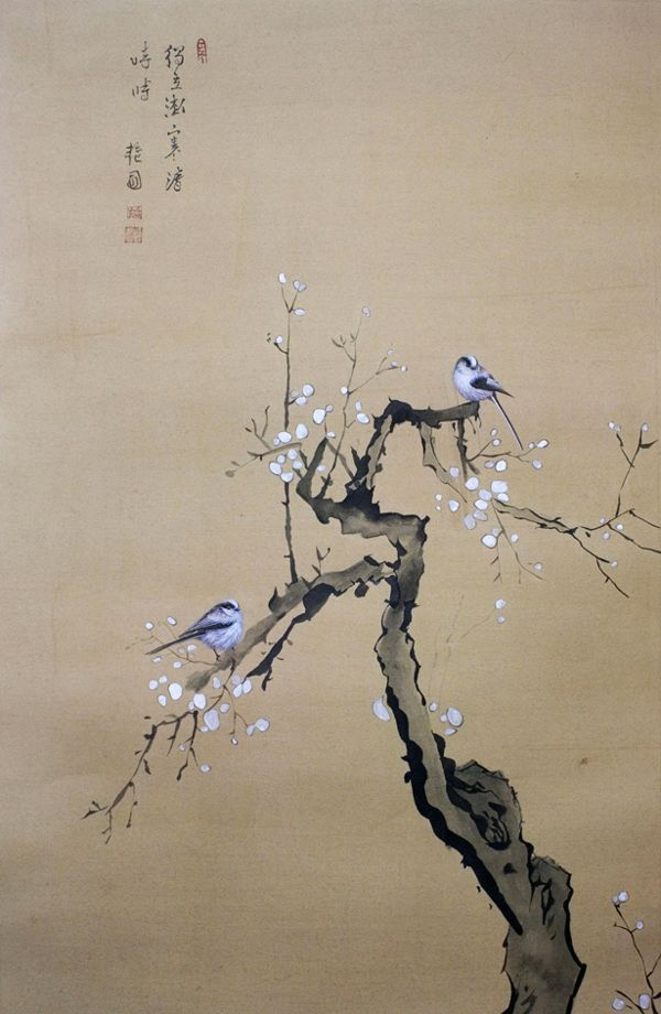 8574 best art birds images on pinterest water colors for Japanese watercolor paintings