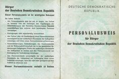 DDR Personalausweis (East German resident identity card)