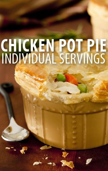 Are you cooking for one or just want to give guests an individual touch? Try Michael Symon's Mini Chicken Pot Pies Recipe from The Chew's Time Machine Week. http://www.recapo.com/the-chew/the-chew-recipes/chew-time-machine-michael-symon-mini-chicken-pot-pies-recipe/