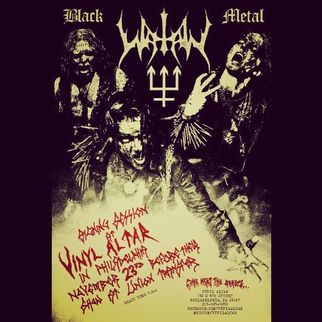 Come by and get your stuff signed by Watain on Nov 23, 3 pm, at the Vinyl Altar in Philadelphia. The concert later that night will take place at the Union Transfer.  Tonight a new inferno of studded fists and white eyes awaits in Palatine, IL!