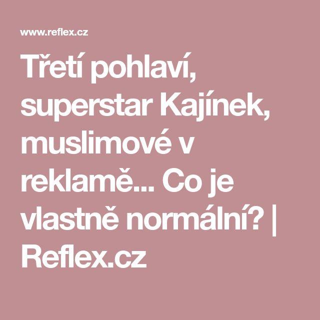 Třetí pohlaví, superstar Kajínek, muslimové v reklamě... Co je vlastně normální? | Reflex.cz