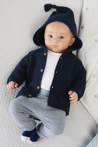 Buy Navy Hooded Cardigan (0mths-2yrs) online today at Next: Sweden