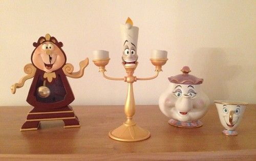 Disney Store Beauty And The Beast Lumiere Cogsworth Mrs