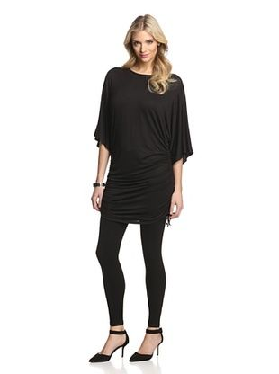 57% OFF Gender Bias Women's Ruched Tunic Top (Black)