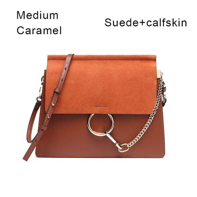 Лидер продаж 2016 года Популярные модный бренд Дизайн женские Натуральная кожа Хлоя Сумка Высокое качество натуральной телячьей сумка цепи орган мешок
