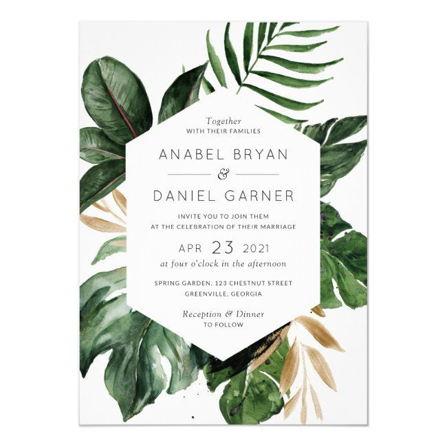 Tropical Philodendron Palm Leaves Modern Wedding Invitation Zazzle Com In 2020 Modern Wedding Invitations Palm Wedding Invitation Handmade Wedding Invitations See more ideas about tropical, tropical leaves, leaves. pinterest