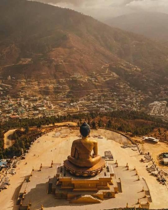 Huge statue of Buddha…Thimpu…Bhutan
